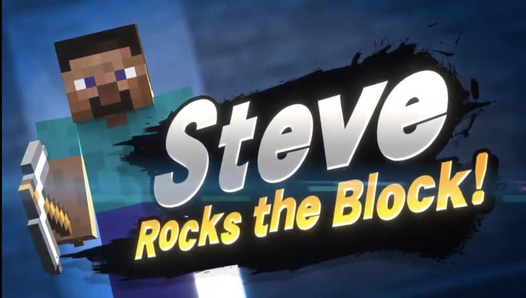 Steve from Minecraft is coming to Super Smash Bros Ultimate